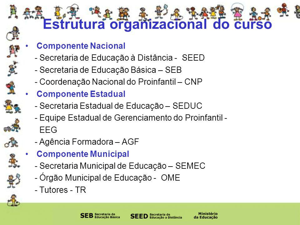 Estrutura organizacional do curso