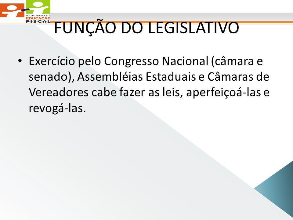 FUNÇÃO DO LEGISLATIVO