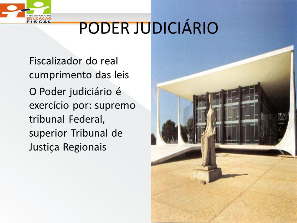 PODER JUDICIÁRIO Fiscalizador do real cumprimento das leis