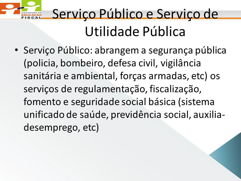 Serviço Público e Serviço de Utilidade Pública