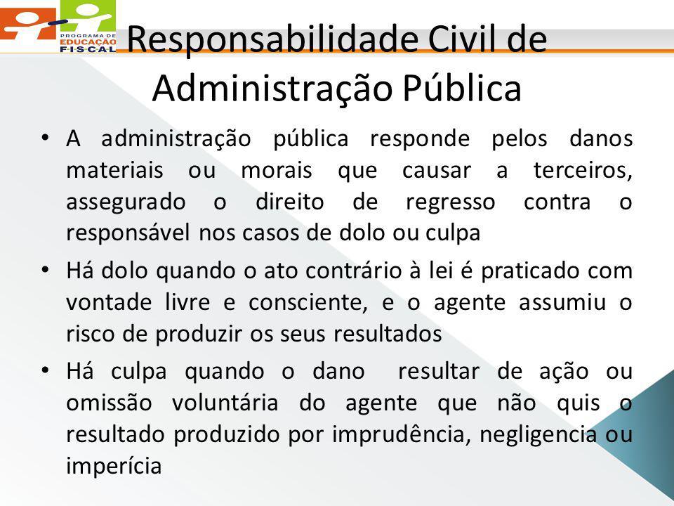 Responsabilidade Civil de Administração Pública
