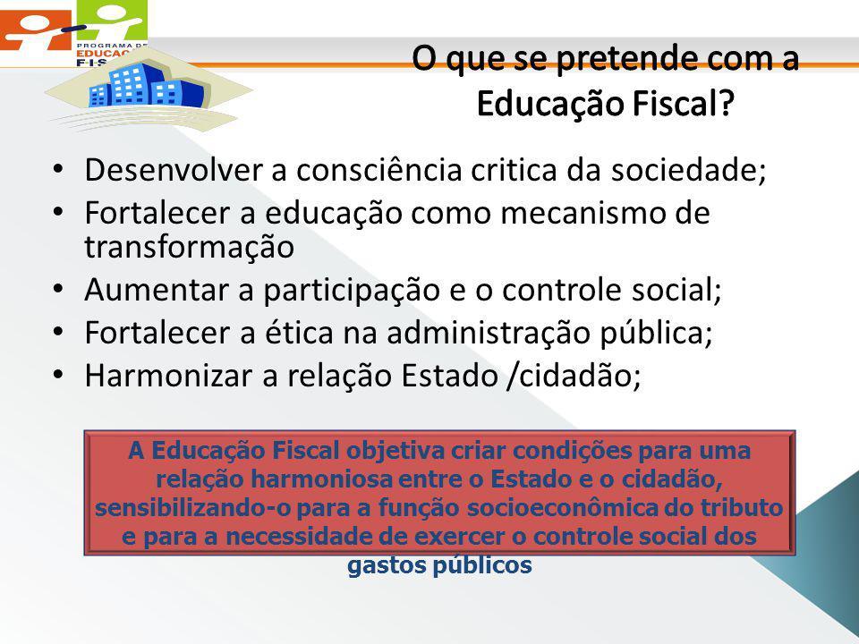 O que se pretende com a Educação Fiscal