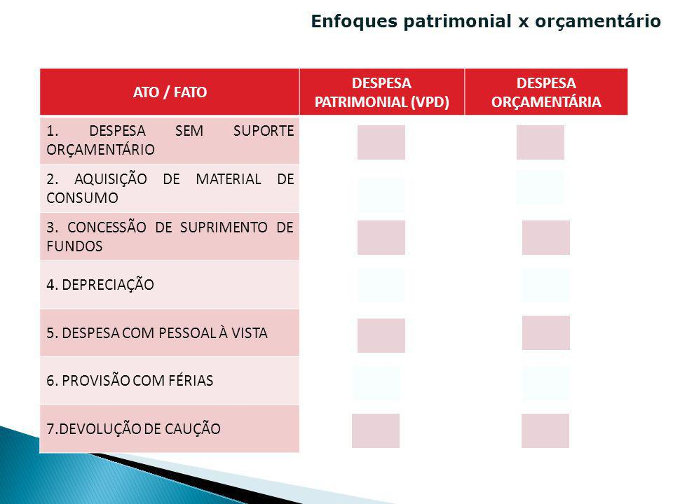 DESPESA PATRIMONIAL (VPD)