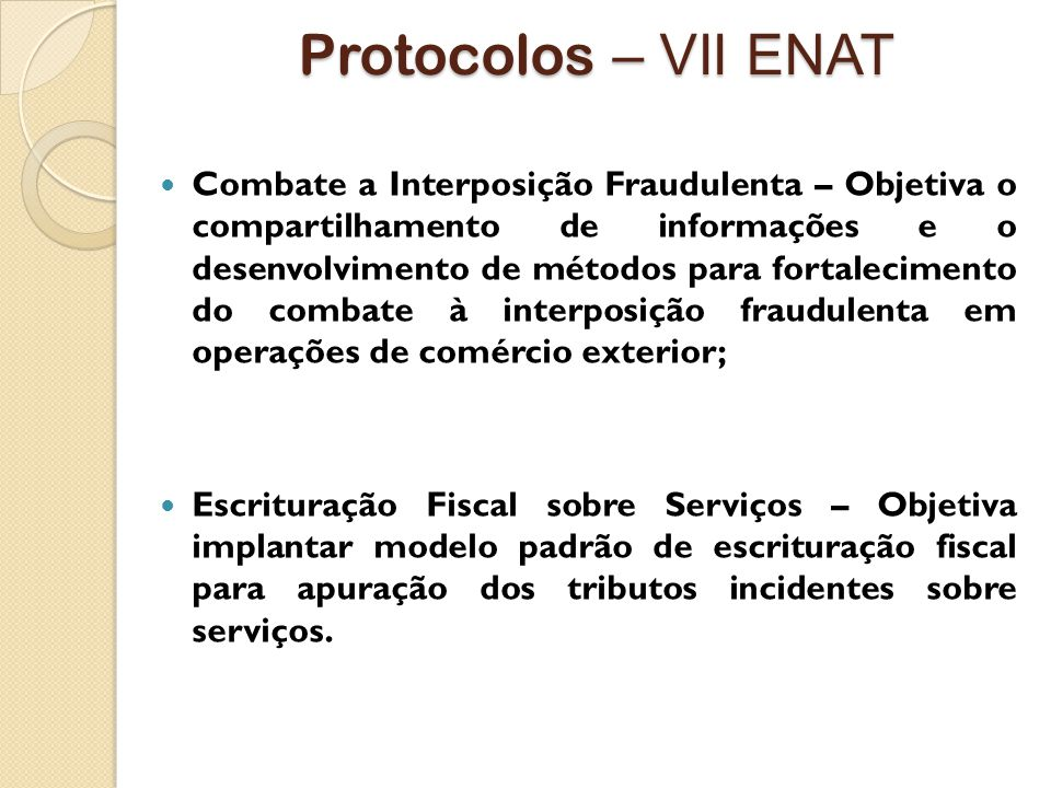 Protocolos – VII ENAT