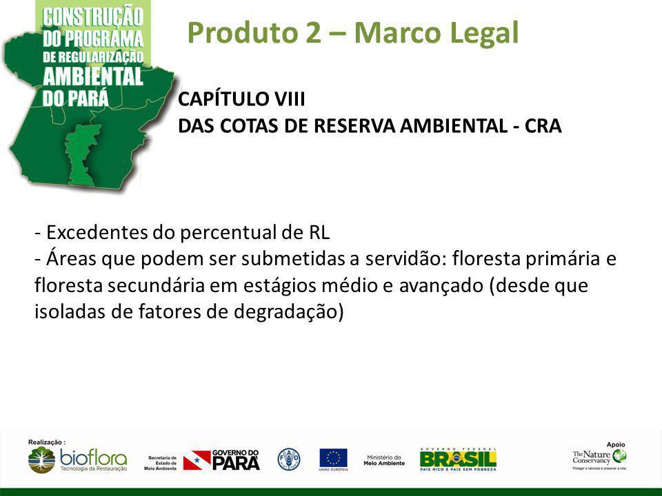 Produto 2 – Marco Legal CAPÍTULO VIII