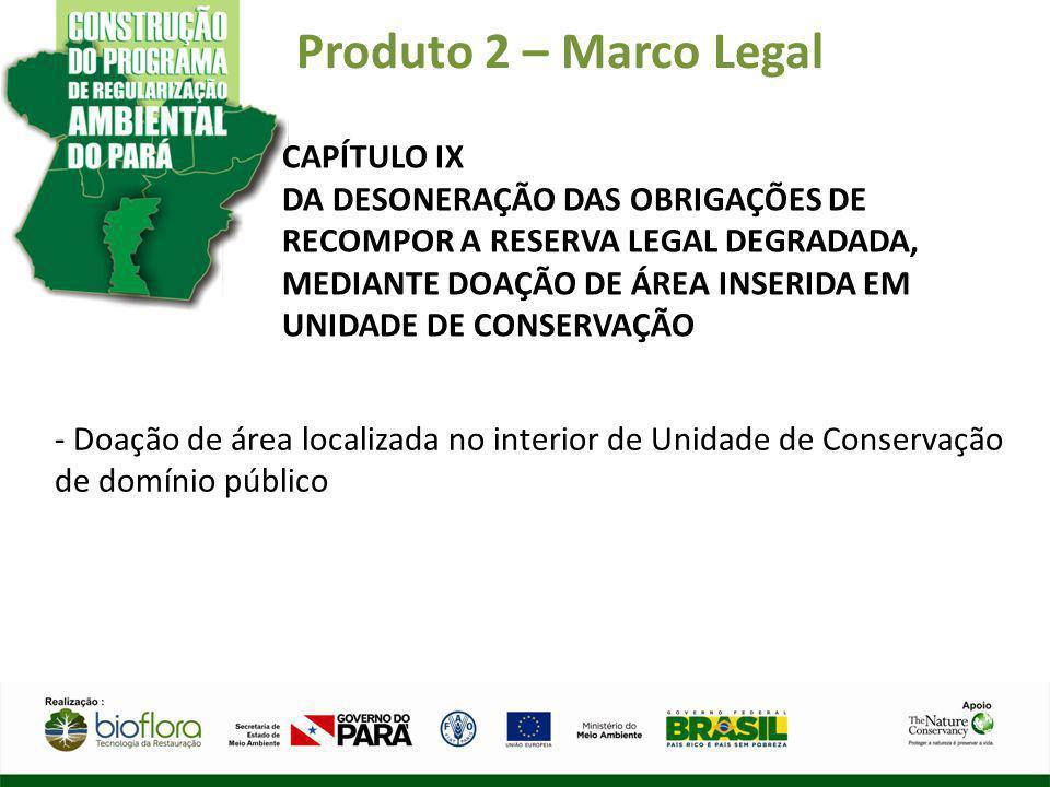 Produto 2 – Marco Legal CAPÍTULO IX