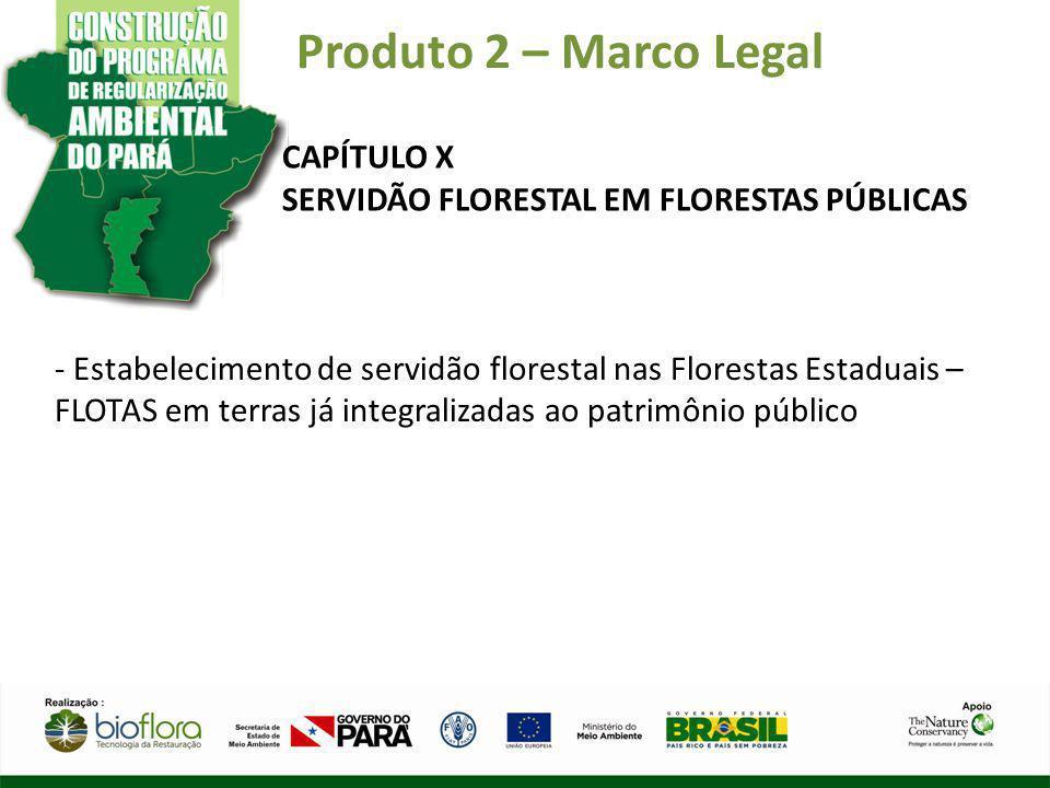 Produto 2 – Marco Legal CAPÍTULO X