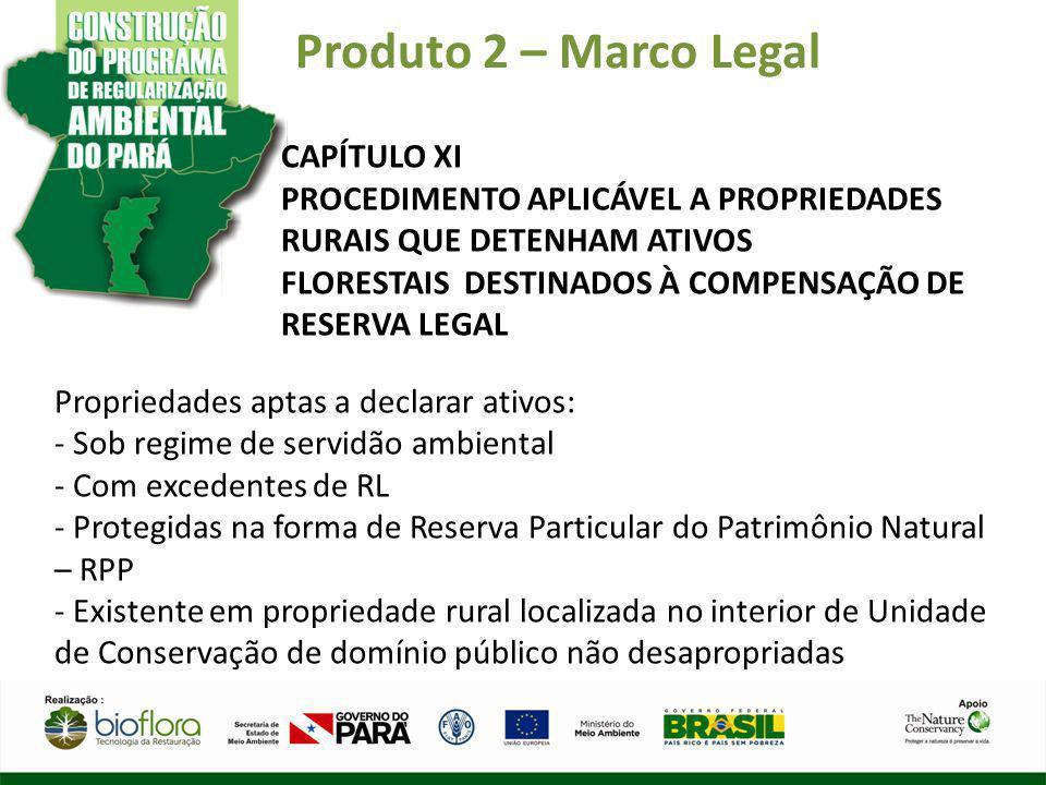 Produto 2 – Marco Legal CAPÍTULO XI