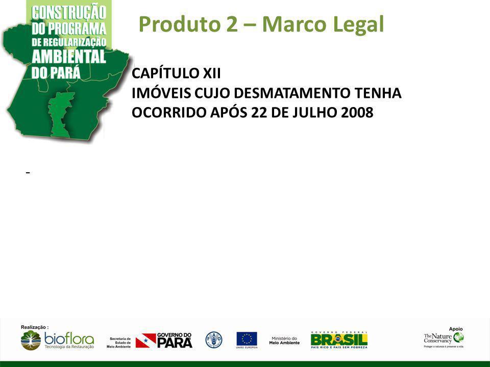 Produto 2 – Marco Legal CAPÍTULO XII