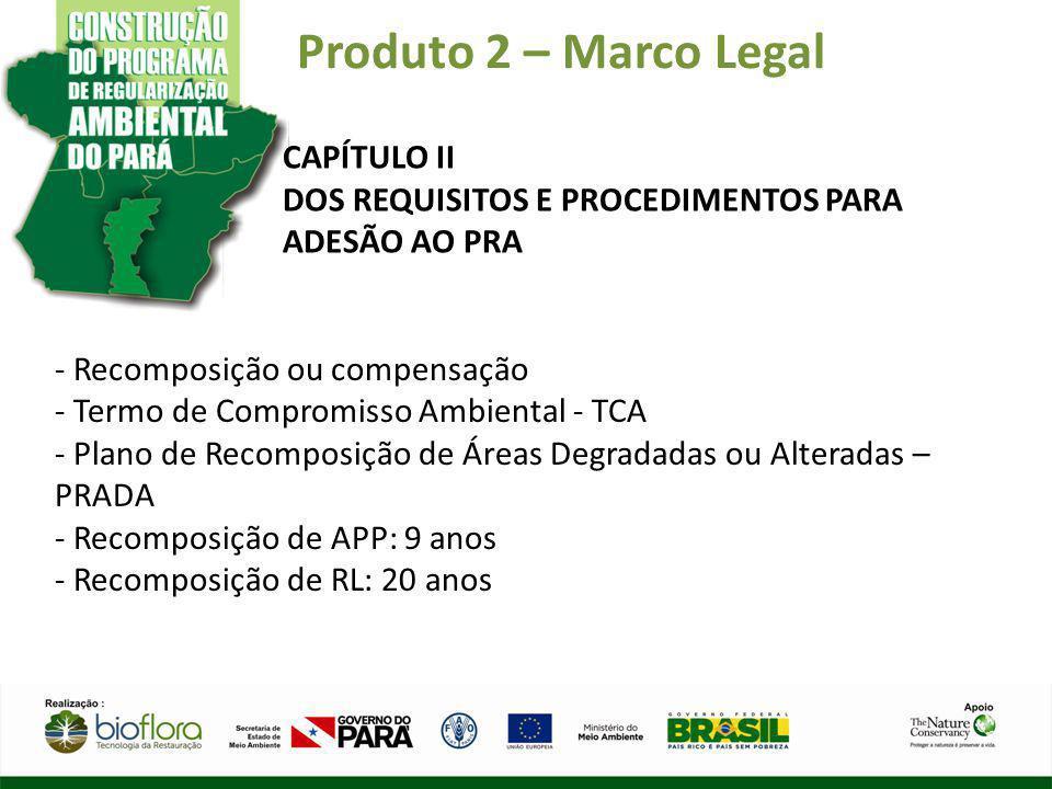 Produto 2 – Marco Legal CAPÍTULO II