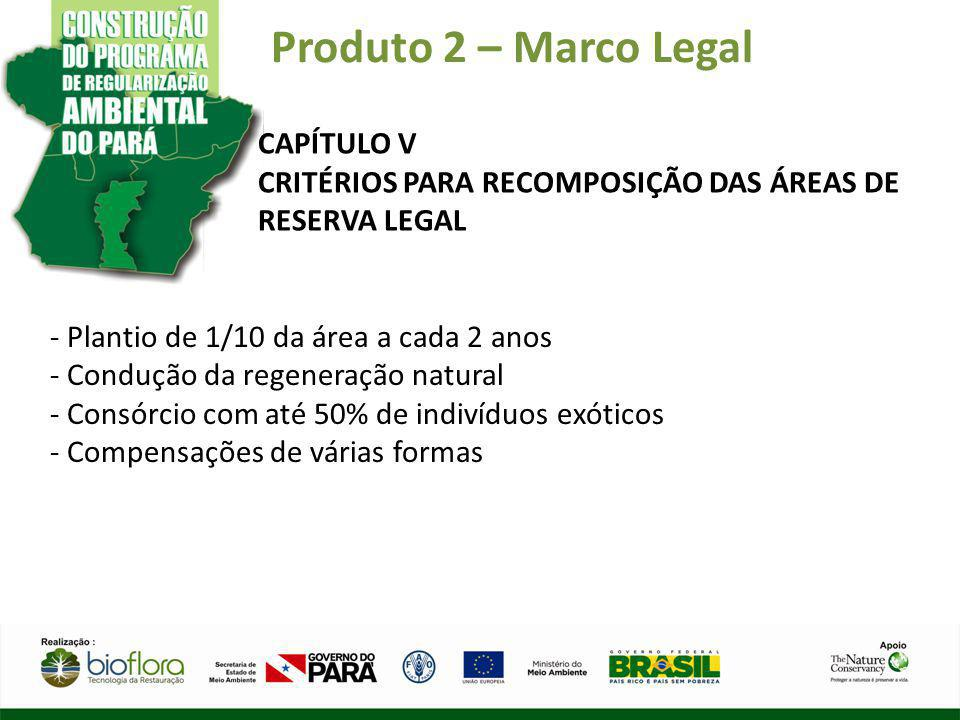 Produto 2 – Marco Legal CAPÍTULO V