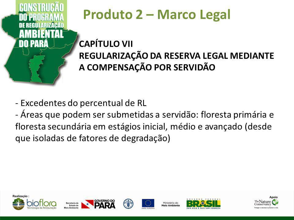 Produto 2 – Marco Legal CAPÍTULO VII