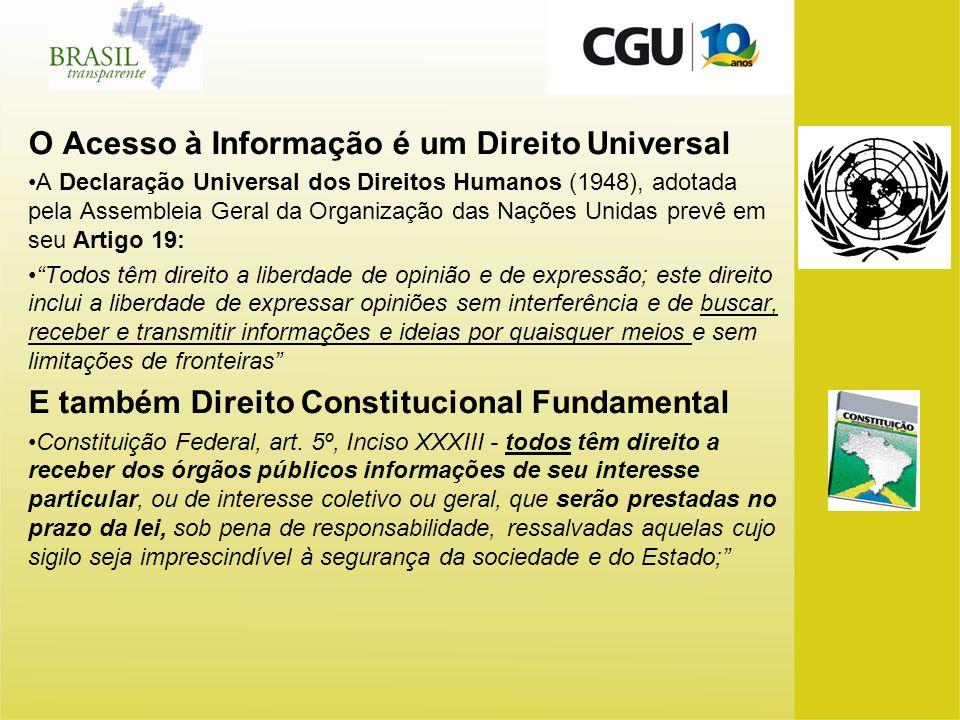 O Acesso à Informação é um Direito Universal