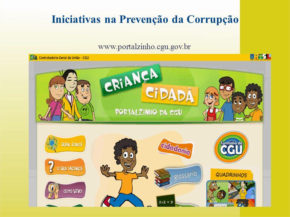 Iniciativas na Prevenção da Corrupção