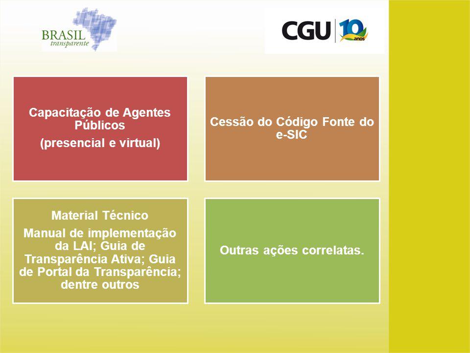 Capacitação de Agentes Públicos (presencial e virtual)
