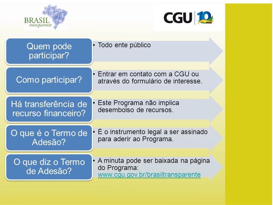 Entrar em contato com a CGU ou através do formulário de interesse.
