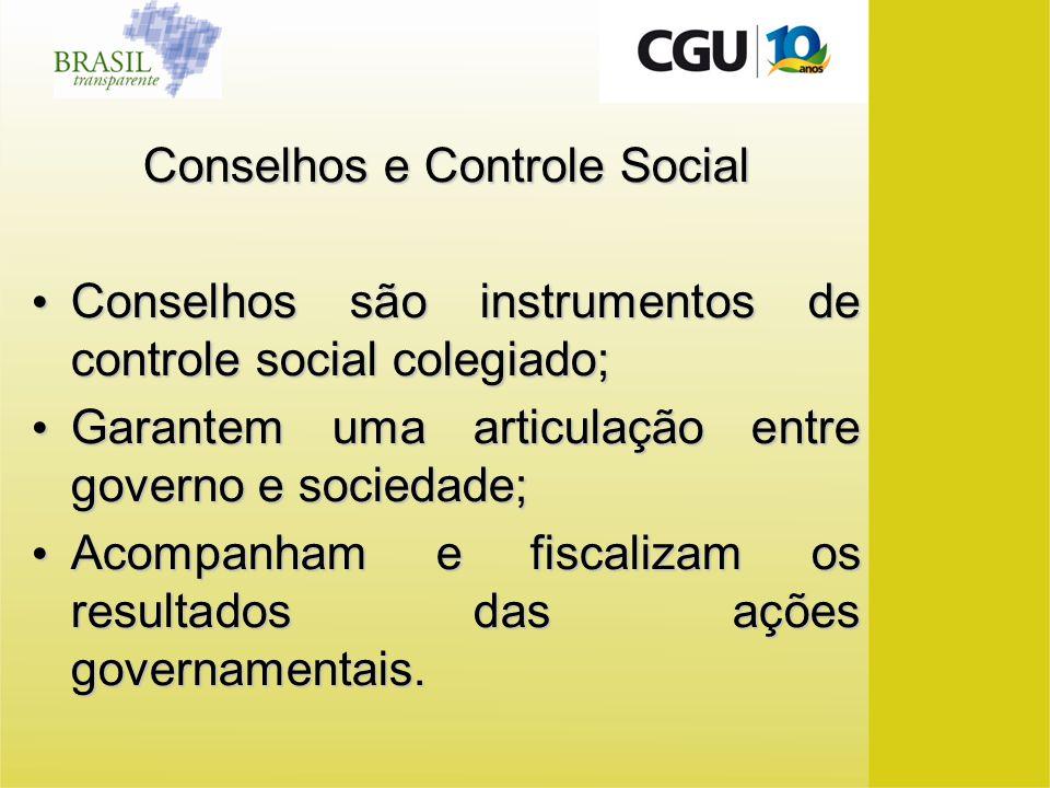 Conselhos e Controle Social