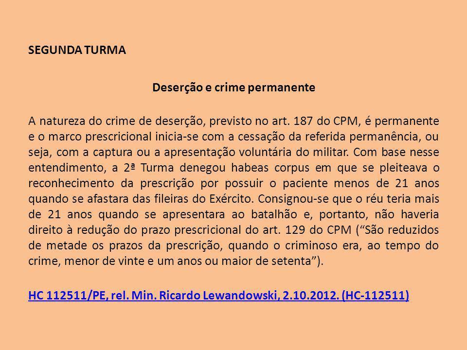 Deserção e crime permanente