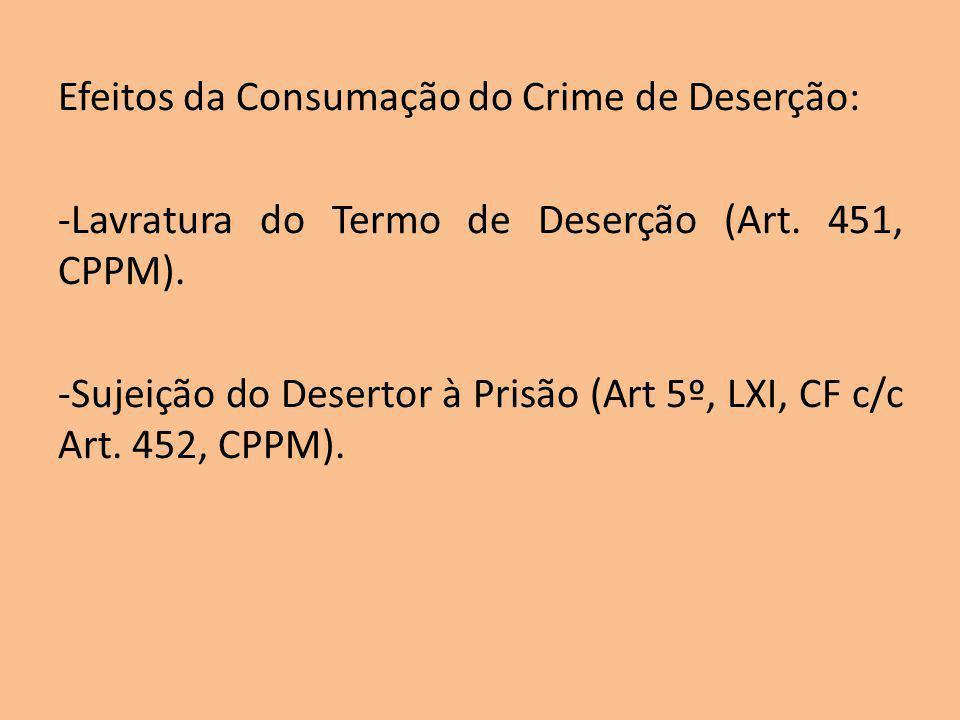 Efeitos da Consumação do Crime de Deserção: