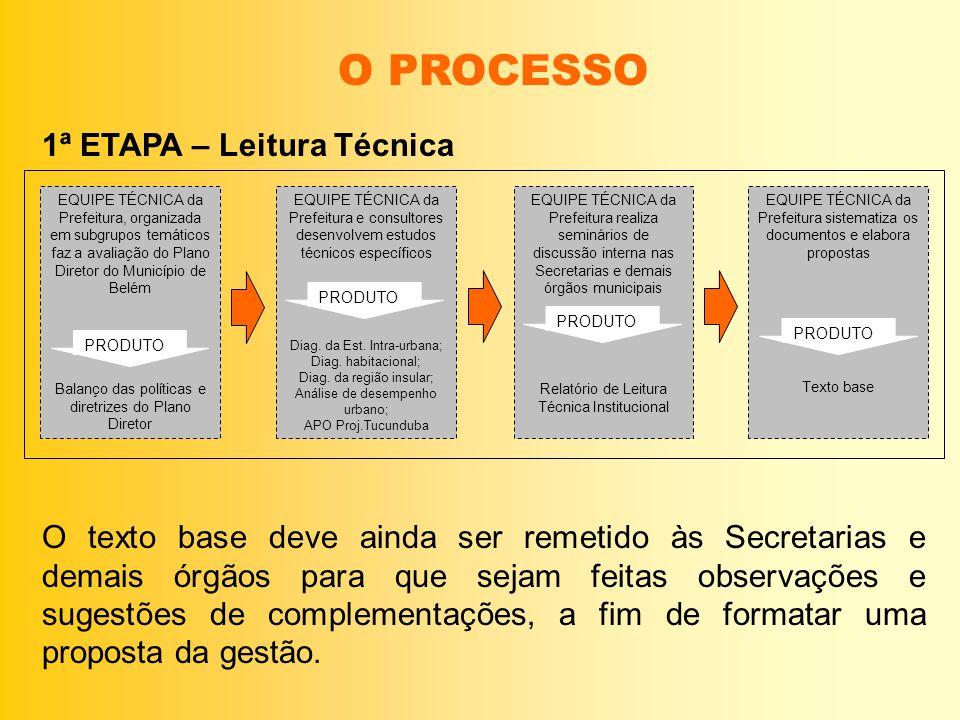 O PROCESSO 1ª ETAPA – Leitura Técnica