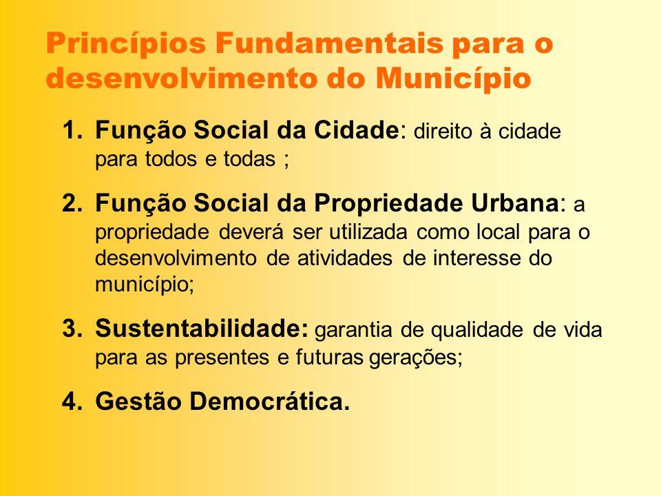 Princípios Fundamentais para o desenvolvimento do Município