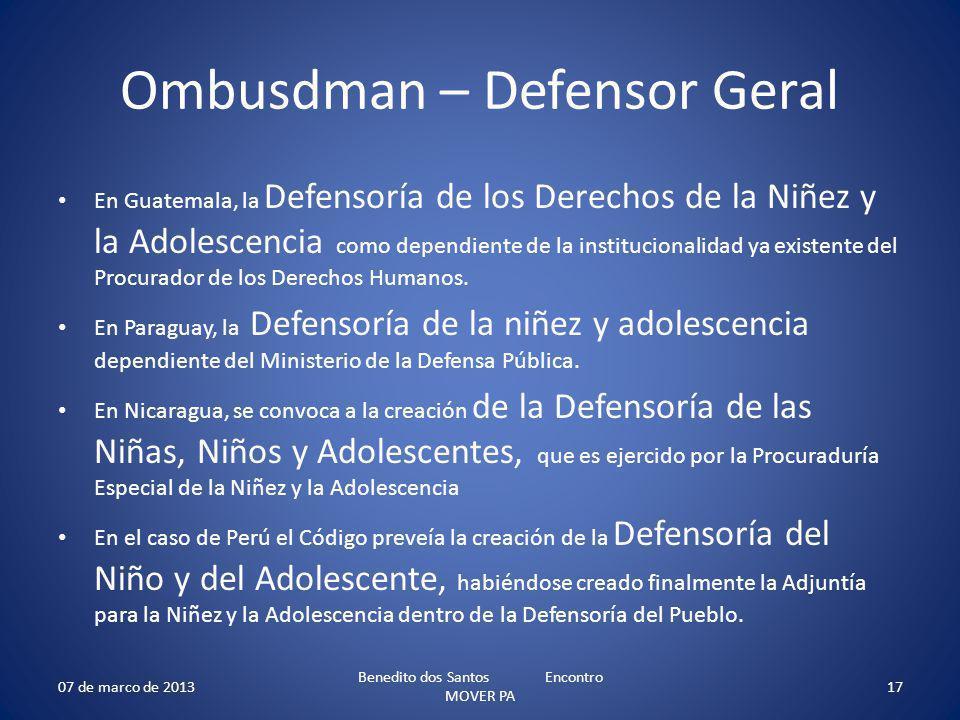 Ombusdman – Defensor Geral
