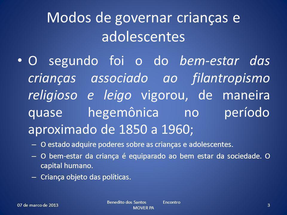 Modos de governar crianças e adolescentes