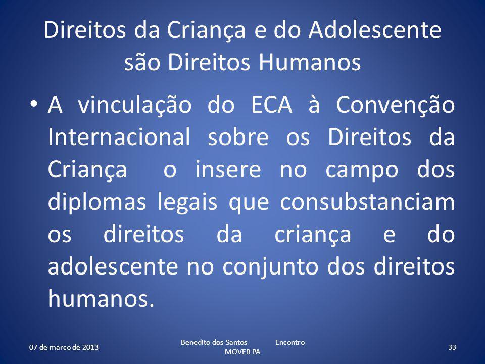 Direitos da Criança e do Adolescente são Direitos Humanos