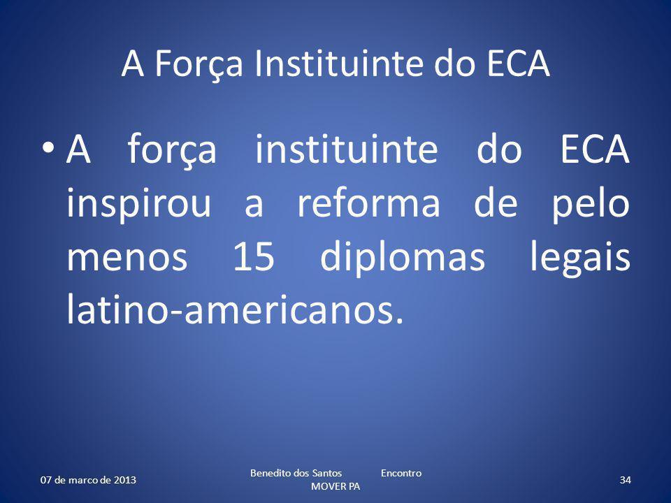 A Força Instituinte do ECA