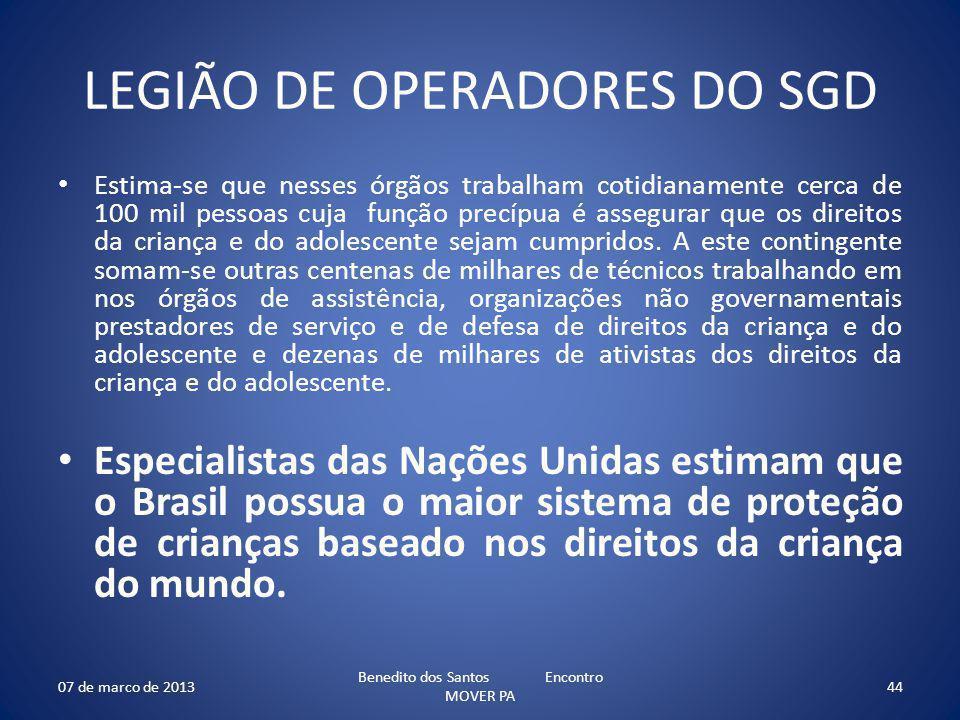 LEGIÃO DE OPERADORES DO SGD