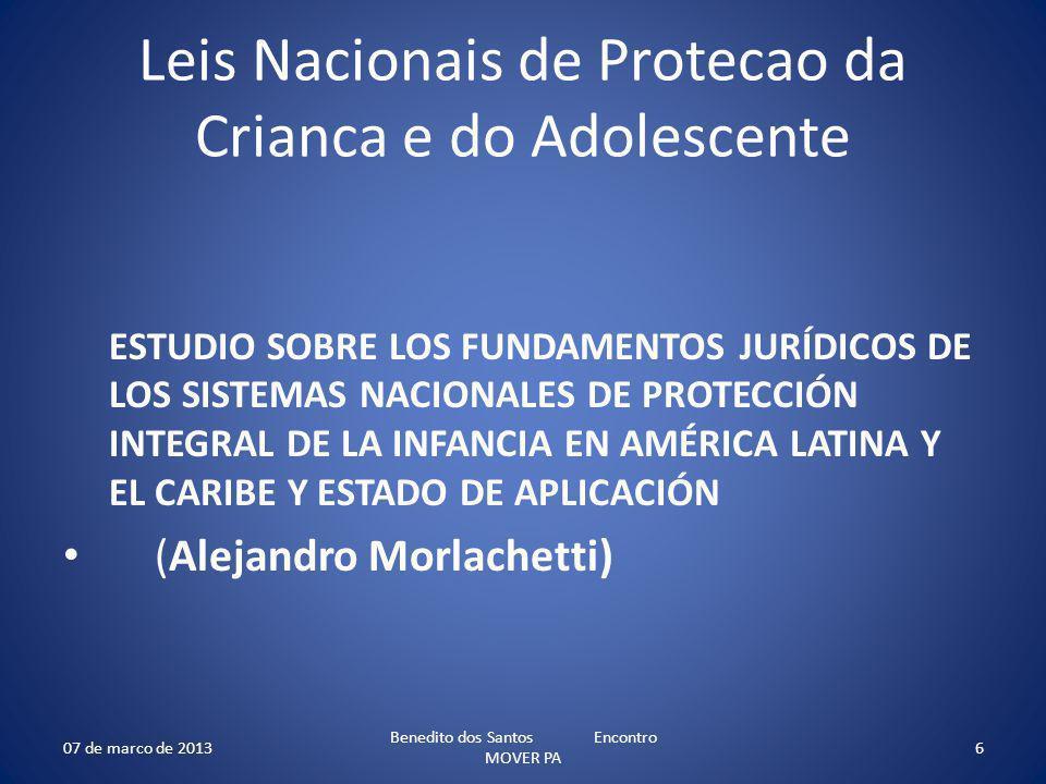 Leis Nacionais de Protecao da Crianca e do Adolescente
