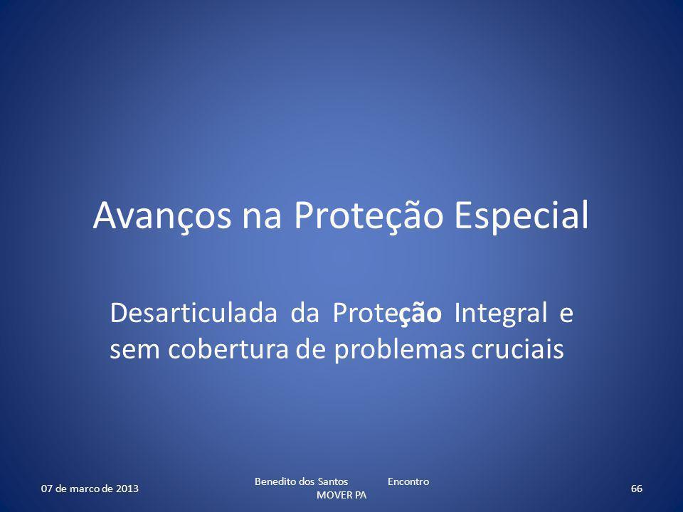 Avanços na Proteção Especial
