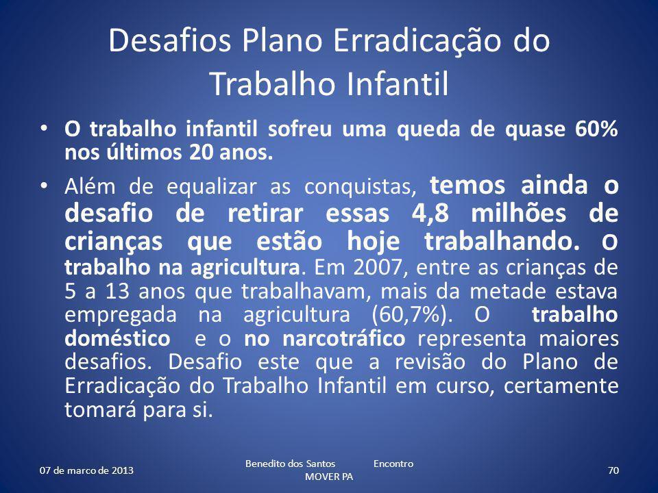 Desafios Plano Erradicação do Trabalho Infantil