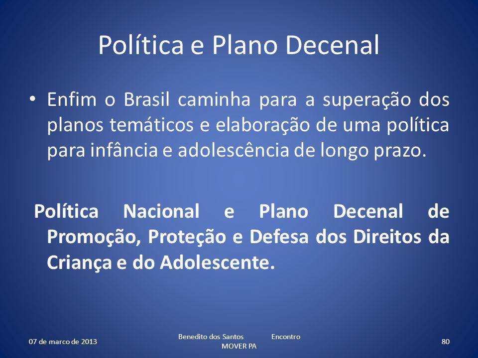 Política e Plano Decenal
