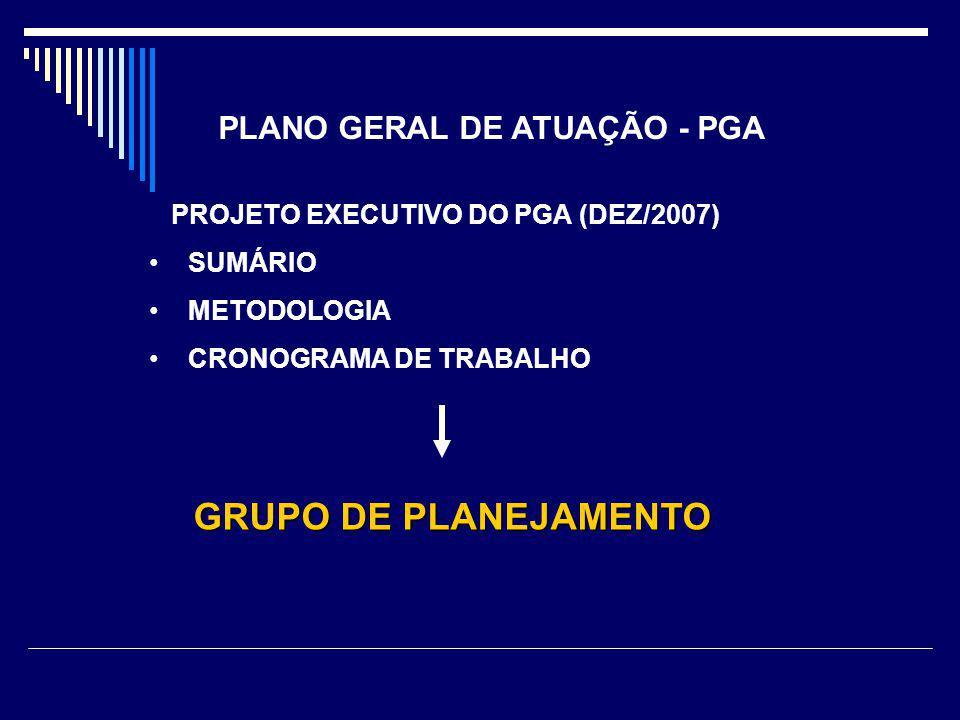 PROJETO EXECUTIVO DO PGA (DEZ/2007) SUMÁRIO METODOLOGIA