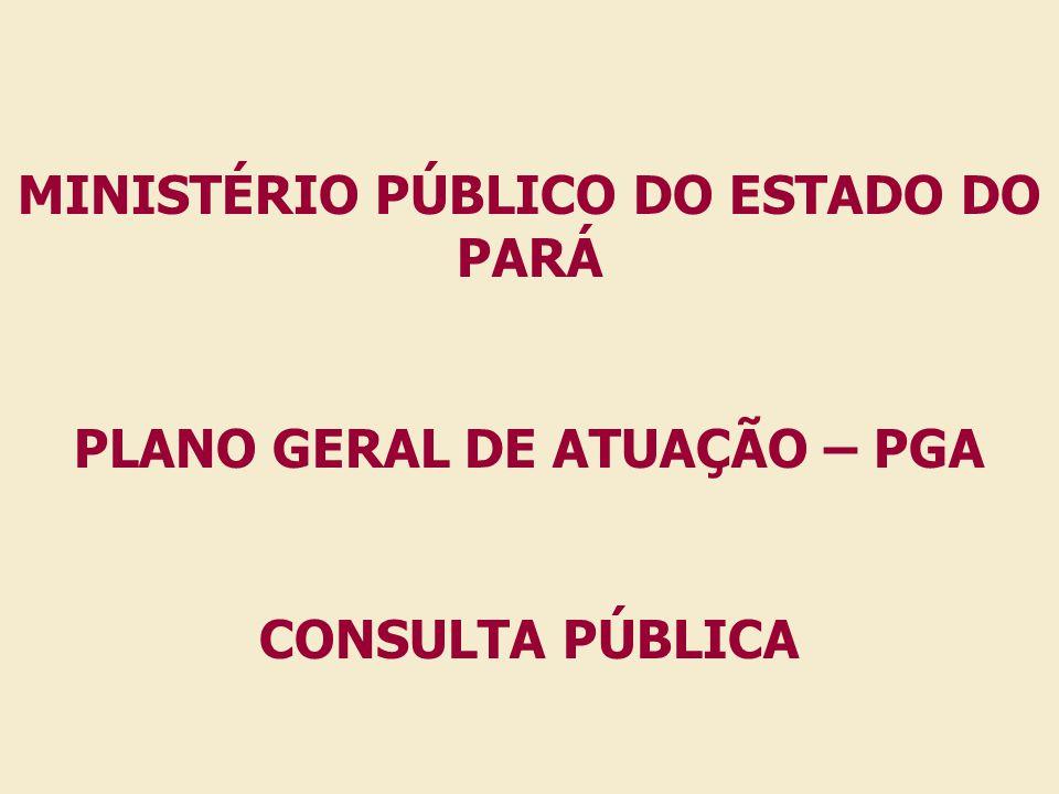 MINISTÉRIO PÚBLICO DO ESTADO DO PARÁ PLANO GERAL DE ATUAÇÃO – PGA
