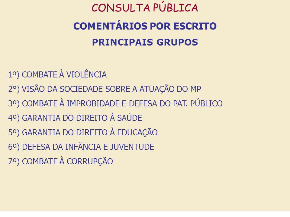 COMENTÁRIOS POR ESCRITO