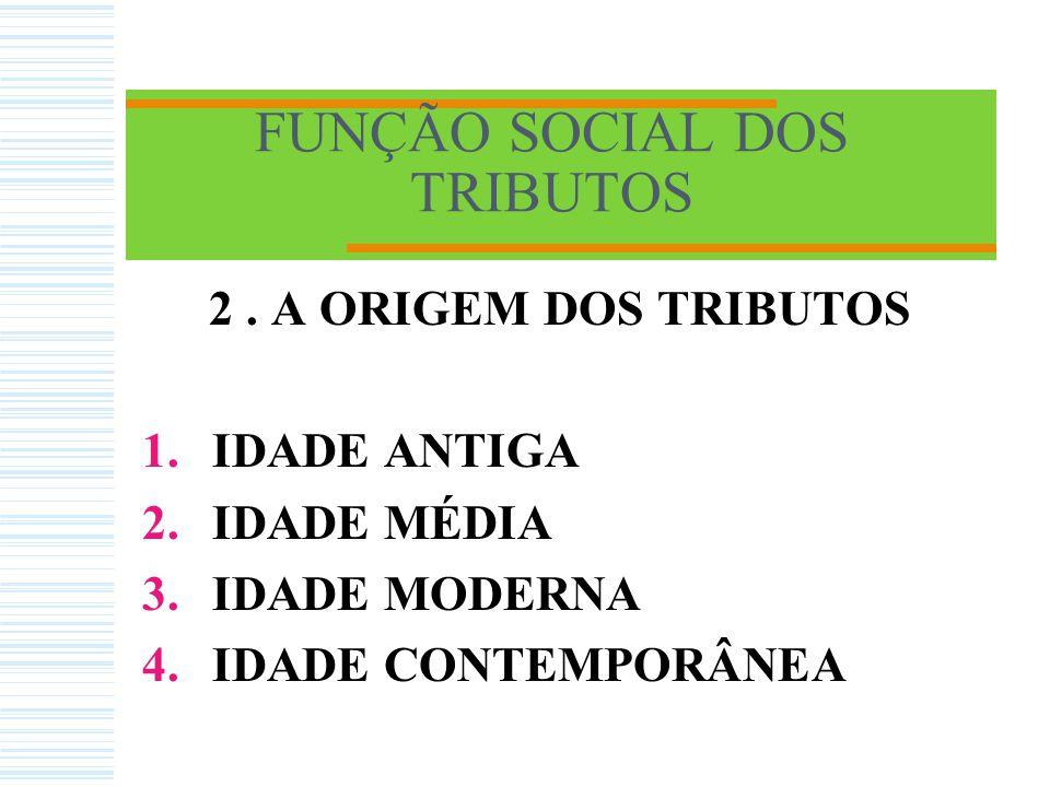 FUNÇÃO SOCIAL DOS TRIBUTOS