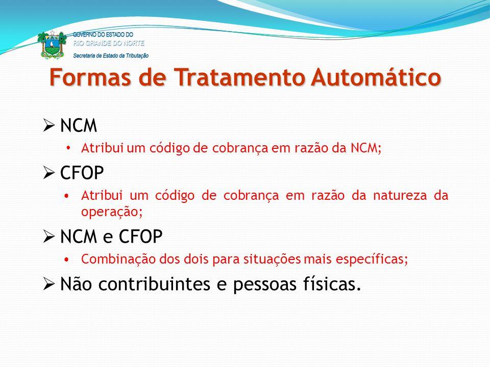Formas de Tratamento Automático