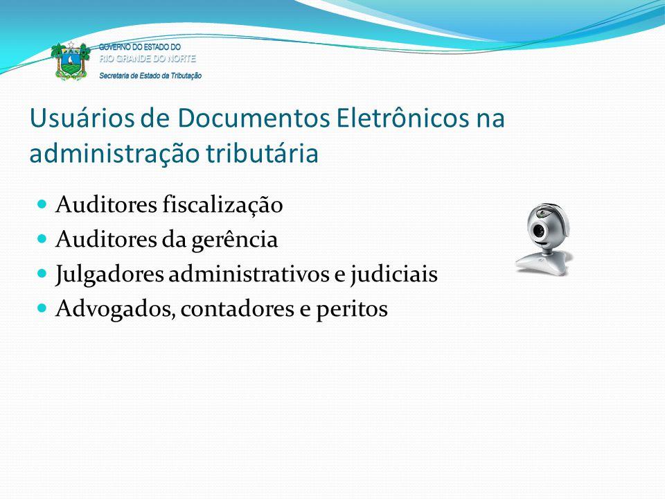Usuários de Documentos Eletrônicos na administração tributária