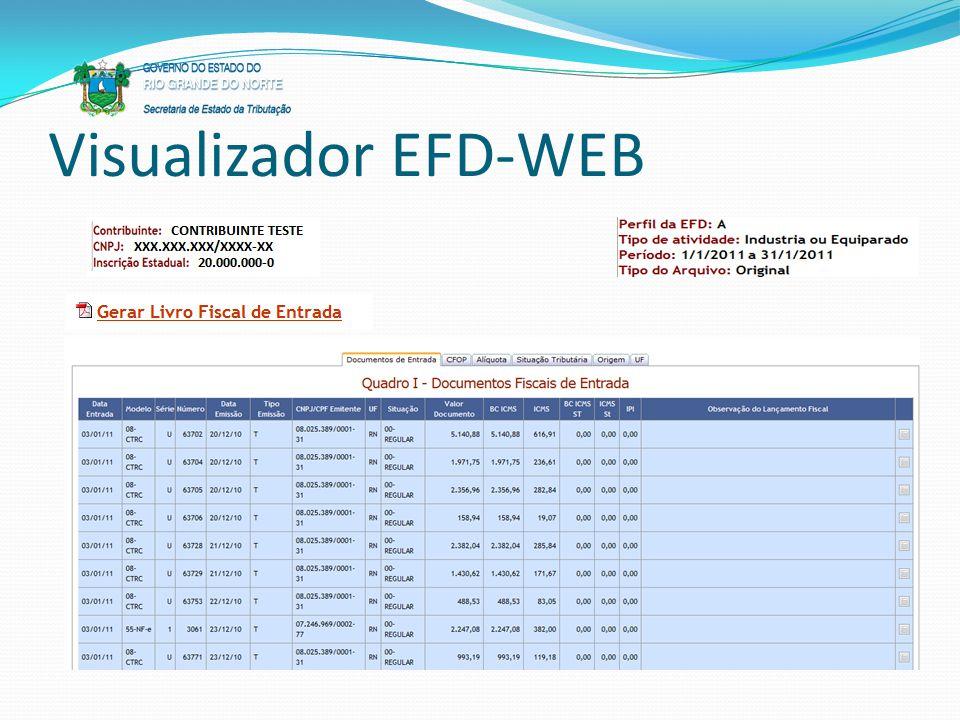 Visualizador EFD-WEB
