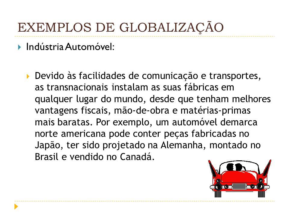 EXEMPLOS DE GLOBALIZAÇÃO