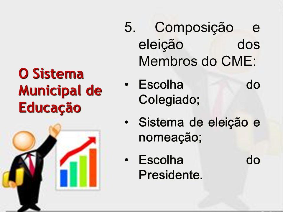5. Composição e eleição dos Membros do CME: