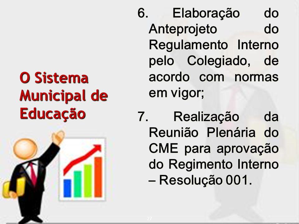O Sistema Municipal de Educação