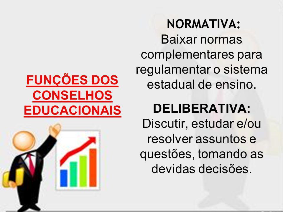 FUNÇÕES DOS CONSELHOS EDUCACIONAIS