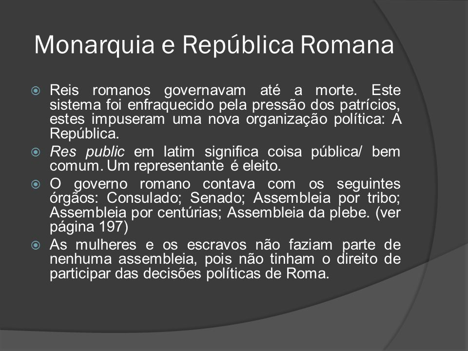 Monarquia e República Romana