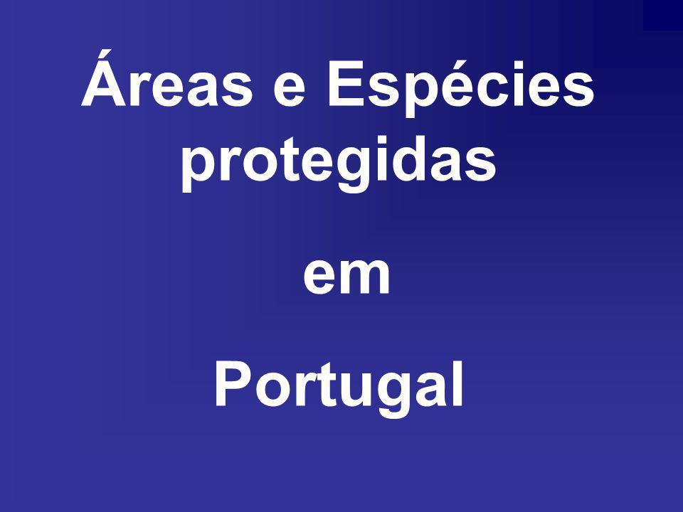 Áreas e Espécies protegidas