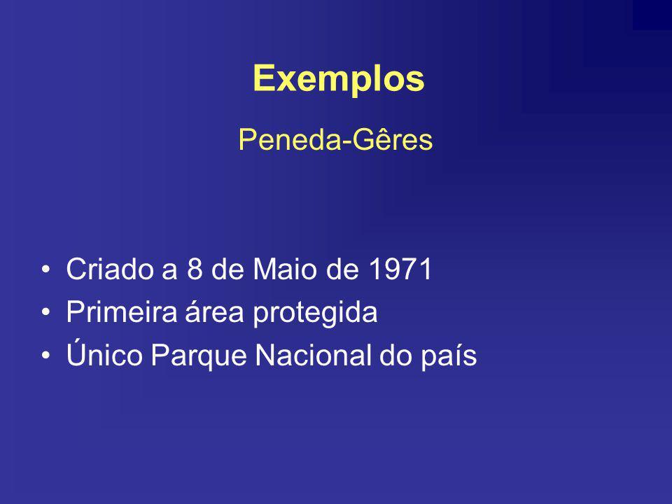 Exemplos Peneda-Gêres Criado a 8 de Maio de 1971