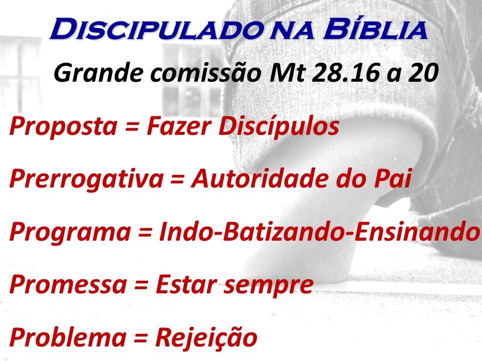 Discipulado na Bíblia Grande comissão Mt 28.16 a 20