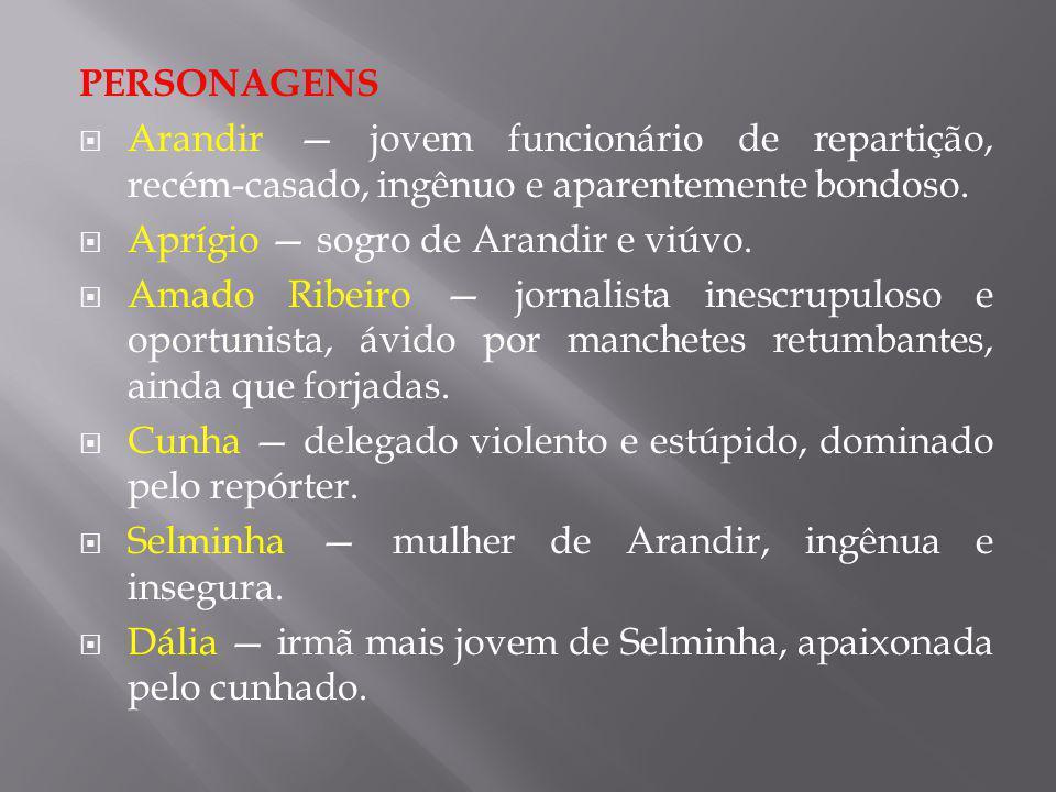 PERSONAGENS Arandir — jovem funcionário de repartição, recém-casado, ingênuo e aparentemente bondoso.